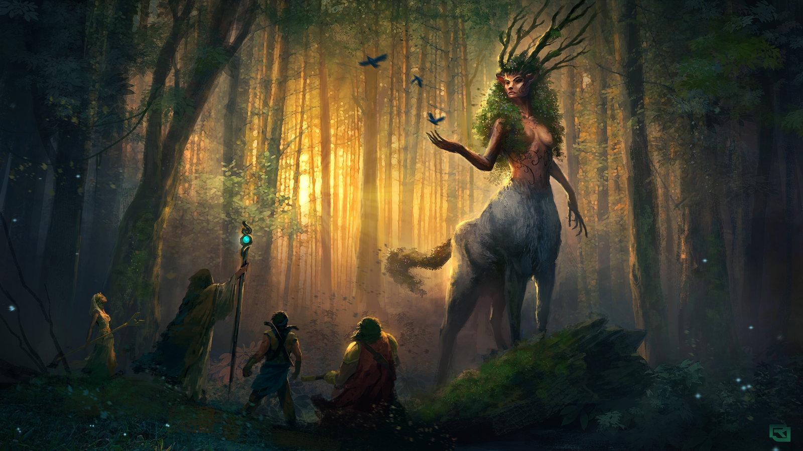 Forest Spirit Backgrounds, Compatible - PC, Mobile, Gadgets| 1600x900 px