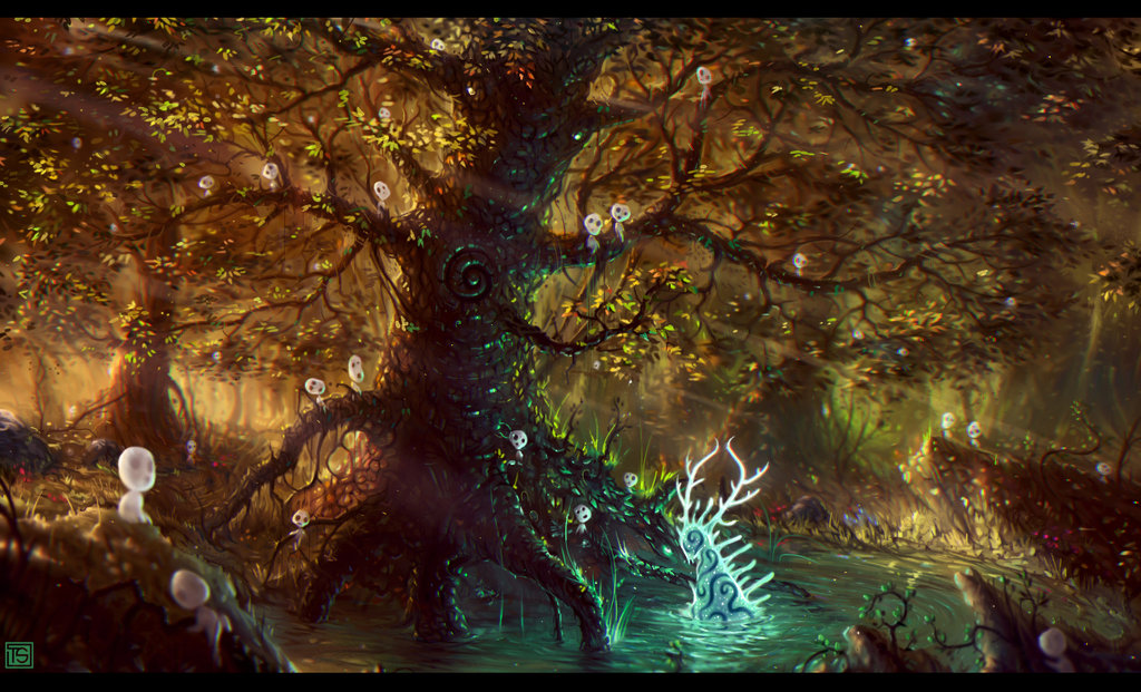 High Resolution Wallpaper | Forest Spirit 1024x621 px