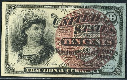 Fractional Currency Pics, Man Made Collection