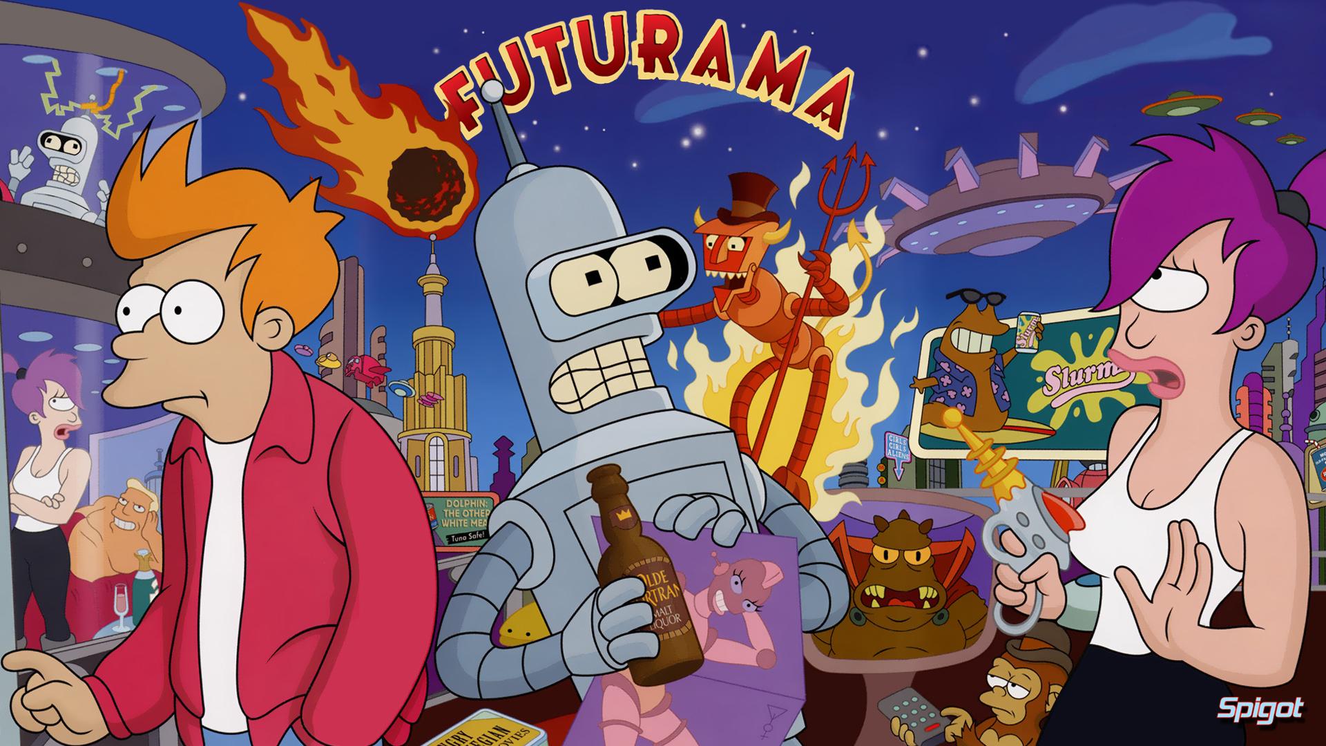 Futurama Backgrounds, Compatible - PC, Mobile, Gadgets  1920x1080 px