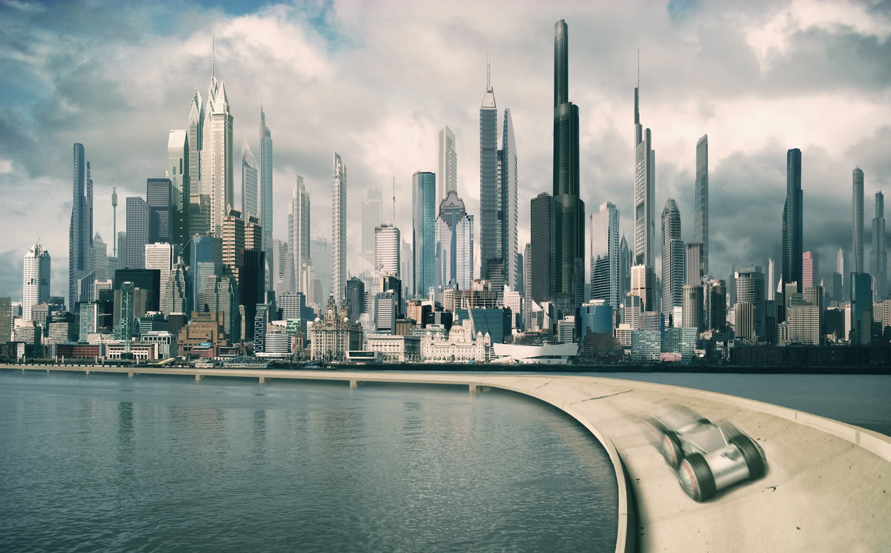 High Resolution Wallpaper | Future City 1300x807 px