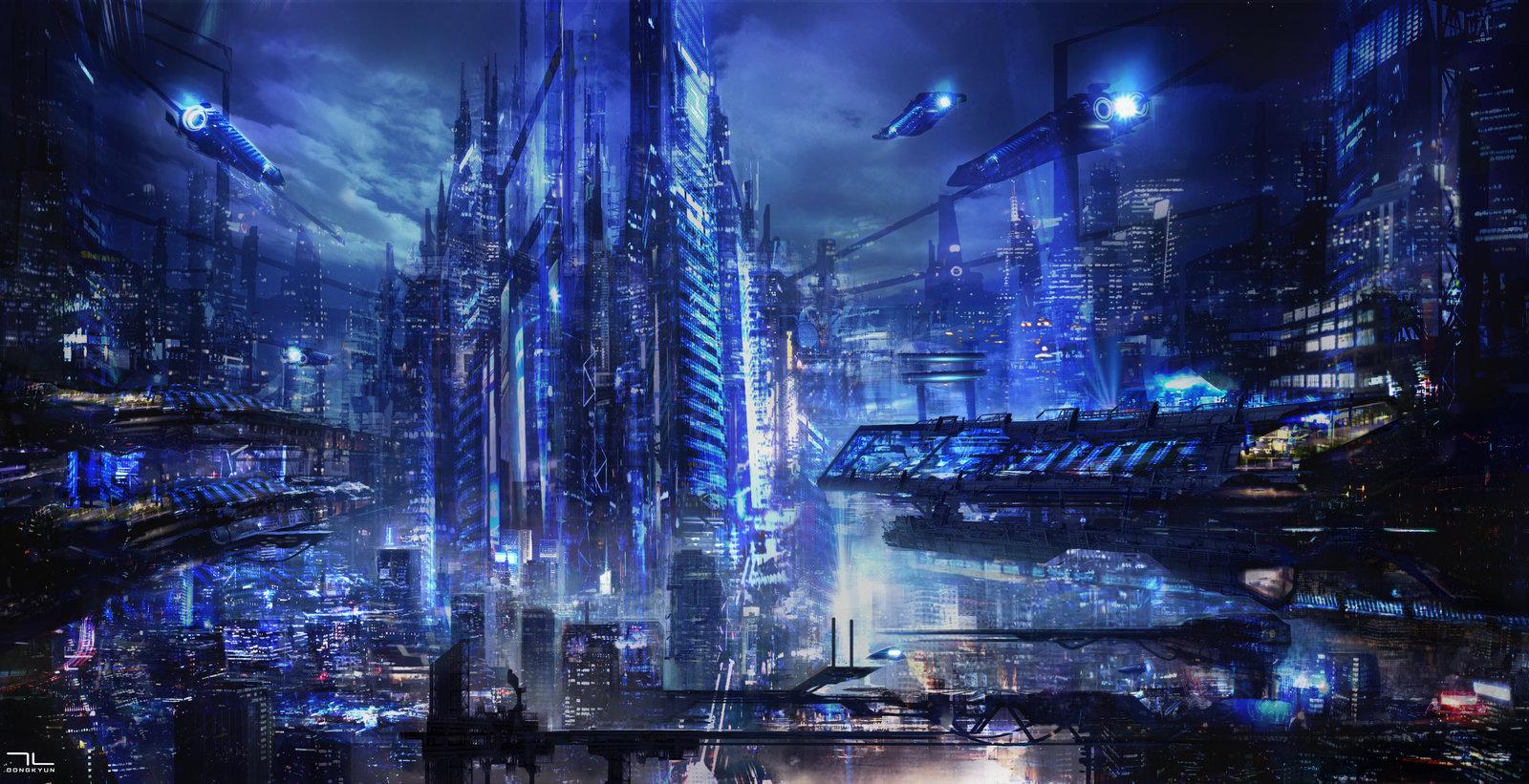 High Resolution Wallpaper | Future City 1600x821 px
