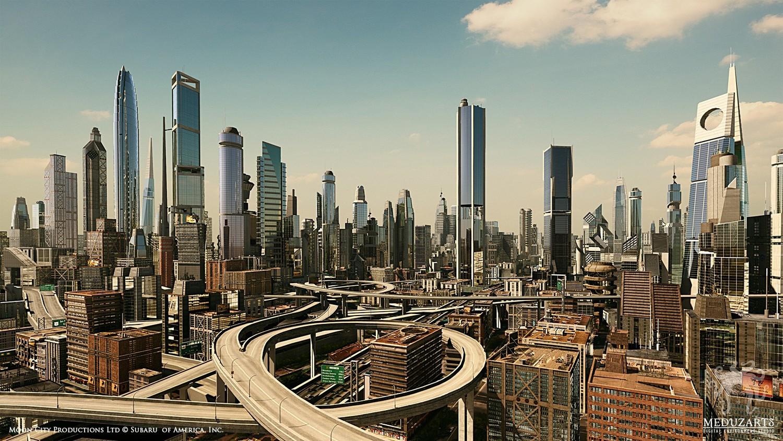 High Resolution Wallpaper | Future City 1500x844 px