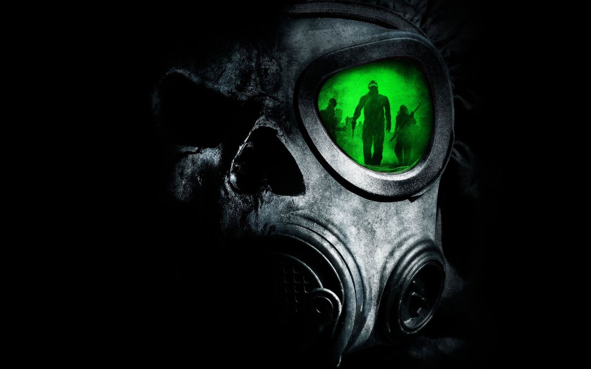HD Quality Wallpaper | Collection: Dark, 1920x1200 Gas Mask