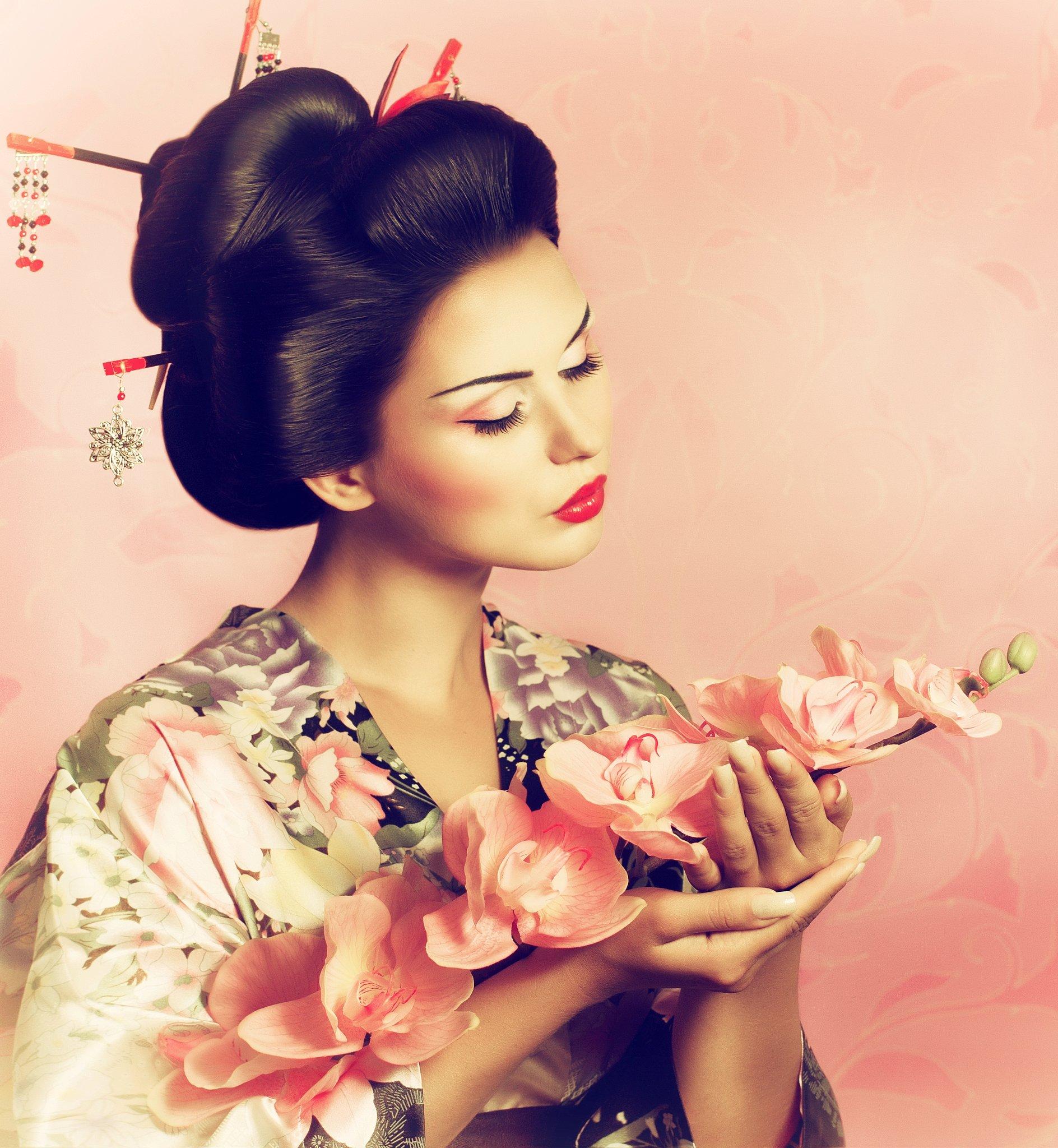 Nice wallpapers Geisha 1888x2048px