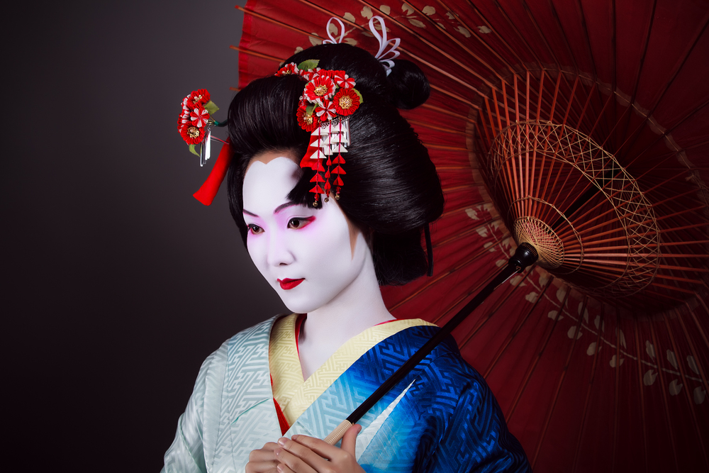 Nice wallpapers Geisha 1000x667px