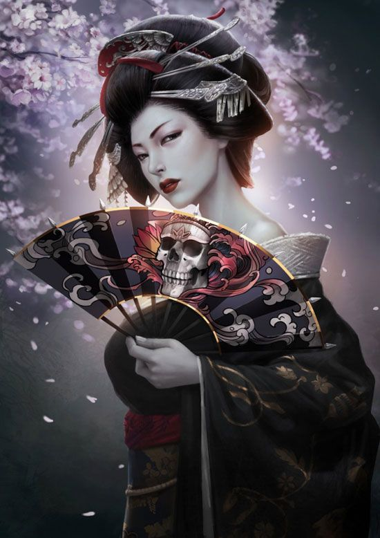 HD Quality Wallpaper | Collection: Artistic, 550x778 Geisha