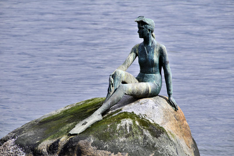 Amazing Girl In A Wetsuit Statue Pictures & Backgrounds