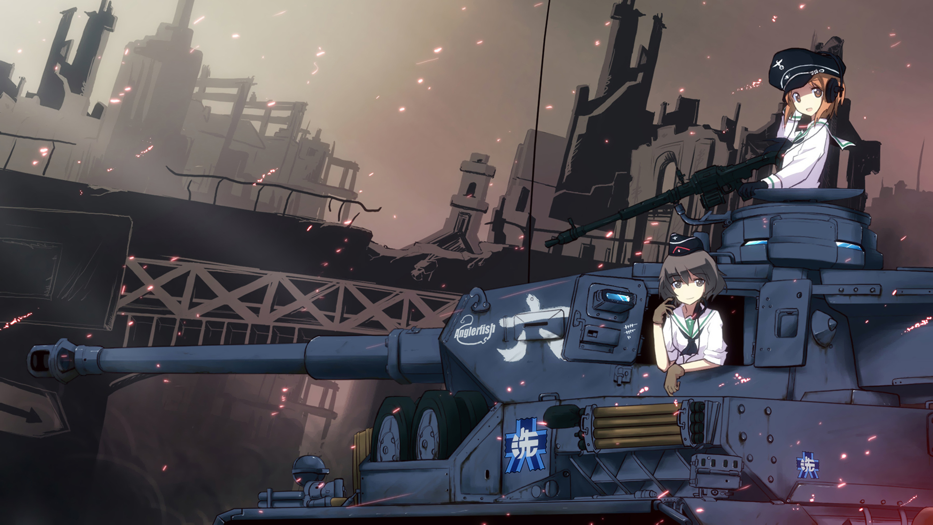 Girls Und Panzer Backgrounds, Compatible - PC, Mobile, Gadgets| 1920x1080 px