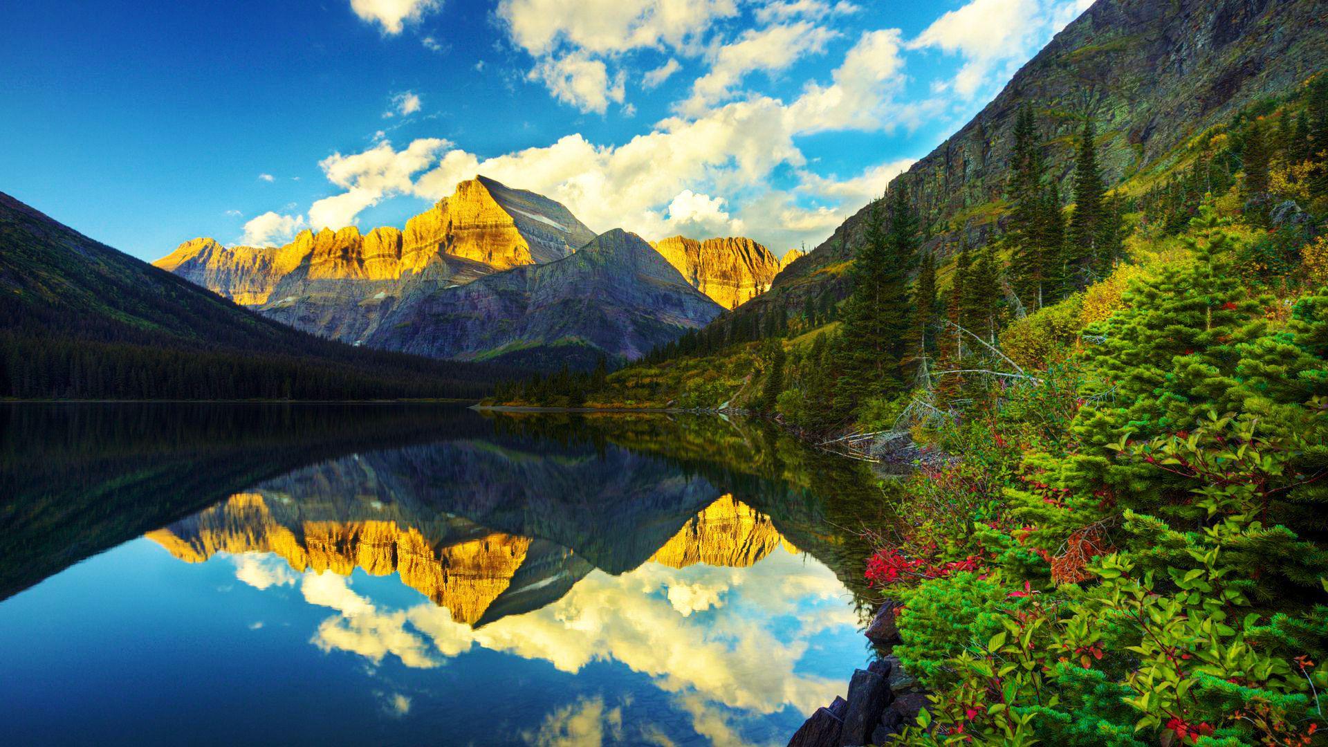 Glacier National Park Backgrounds, Compatible - PC, Mobile, Gadgets| 1920x1080 px