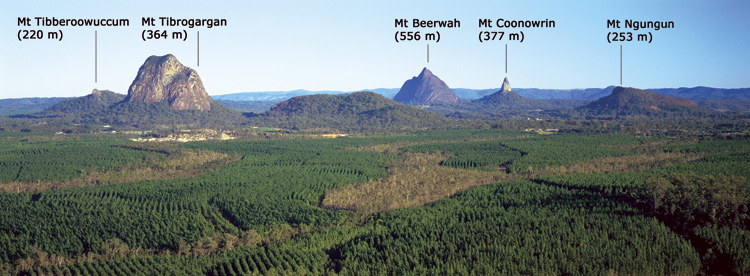 Glasshouse Mountains Pics, Earth Collection