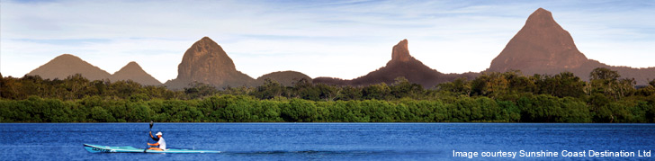 Glasshouse Mountains Backgrounds, Compatible - PC, Mobile, Gadgets| 728x179 px