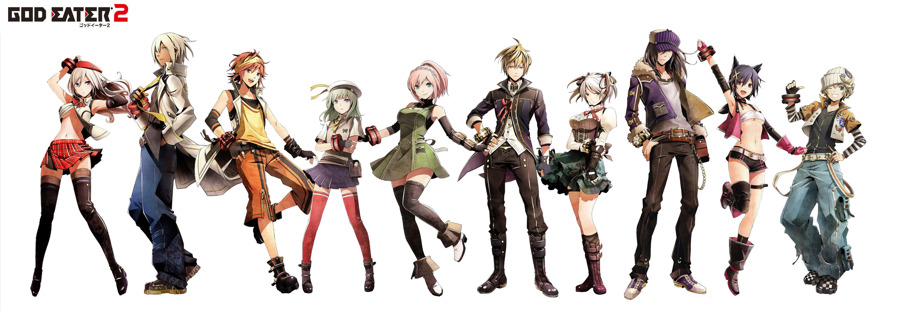 Nice wallpapers God Eater 3505x1200px