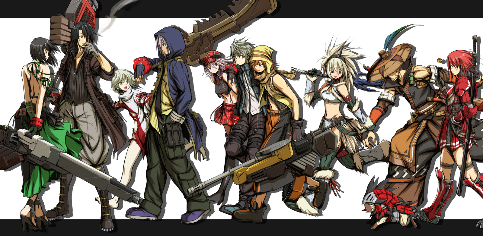 HD Quality Wallpaper   Collection: Anime, 1600x783 God Eater