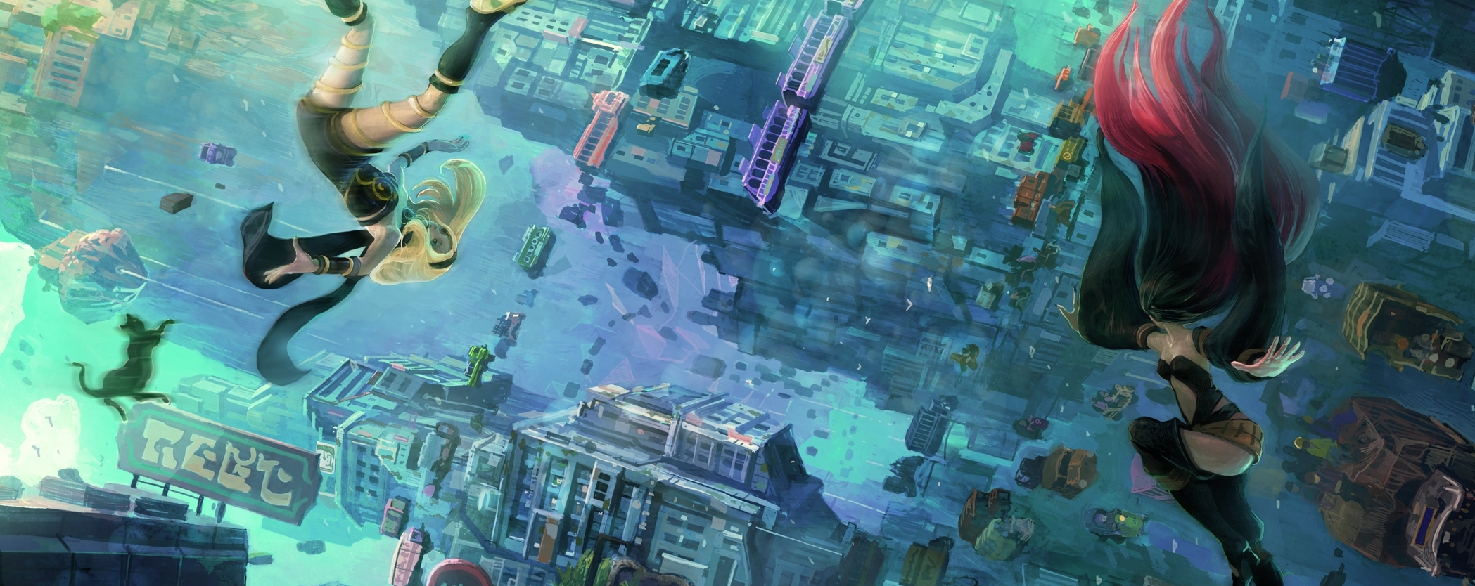 High Resolution Wallpaper | Gravity Rush 2 2097x834 px