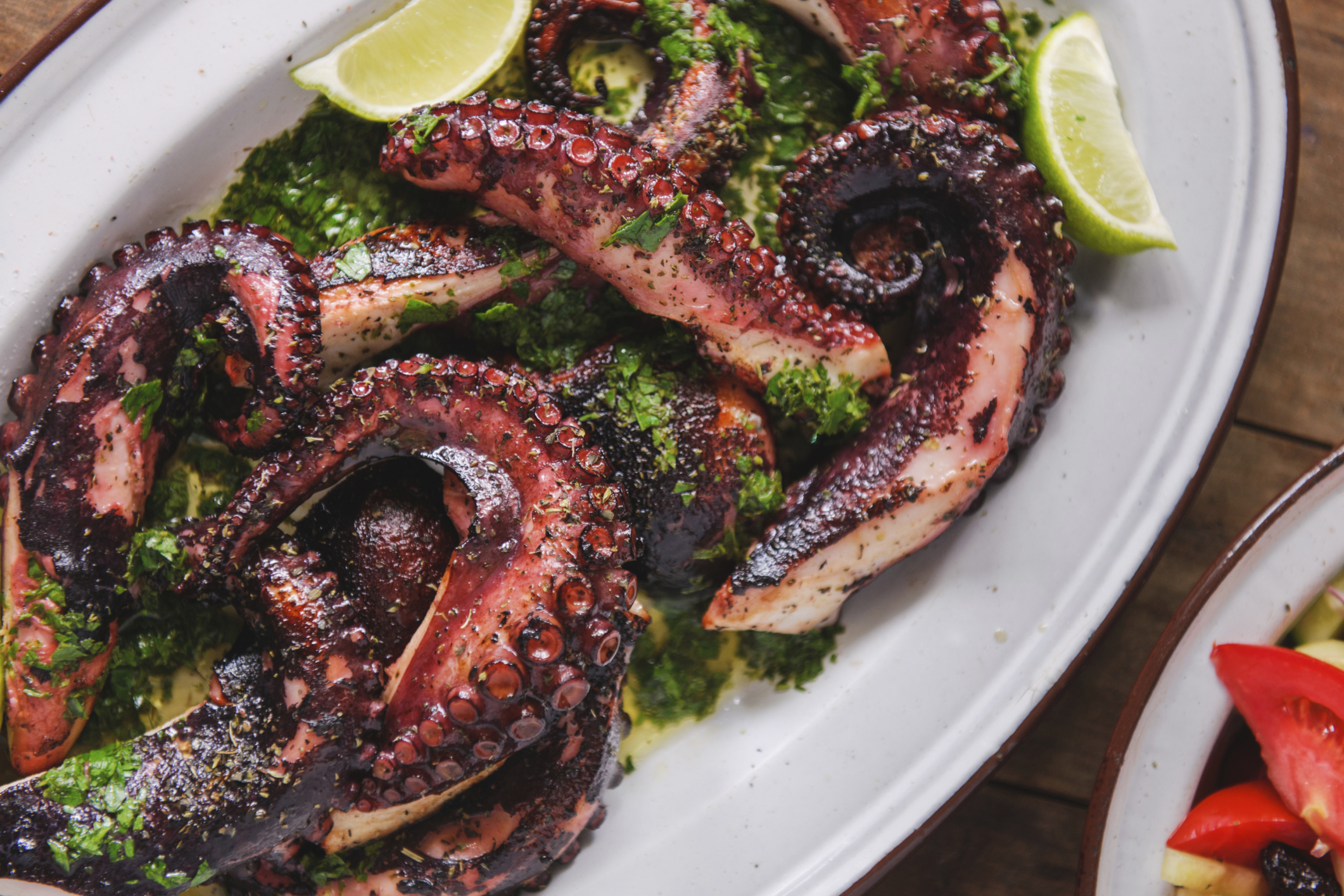 Nice Images Collection: Grilled Octopus Desktop Wallpapers