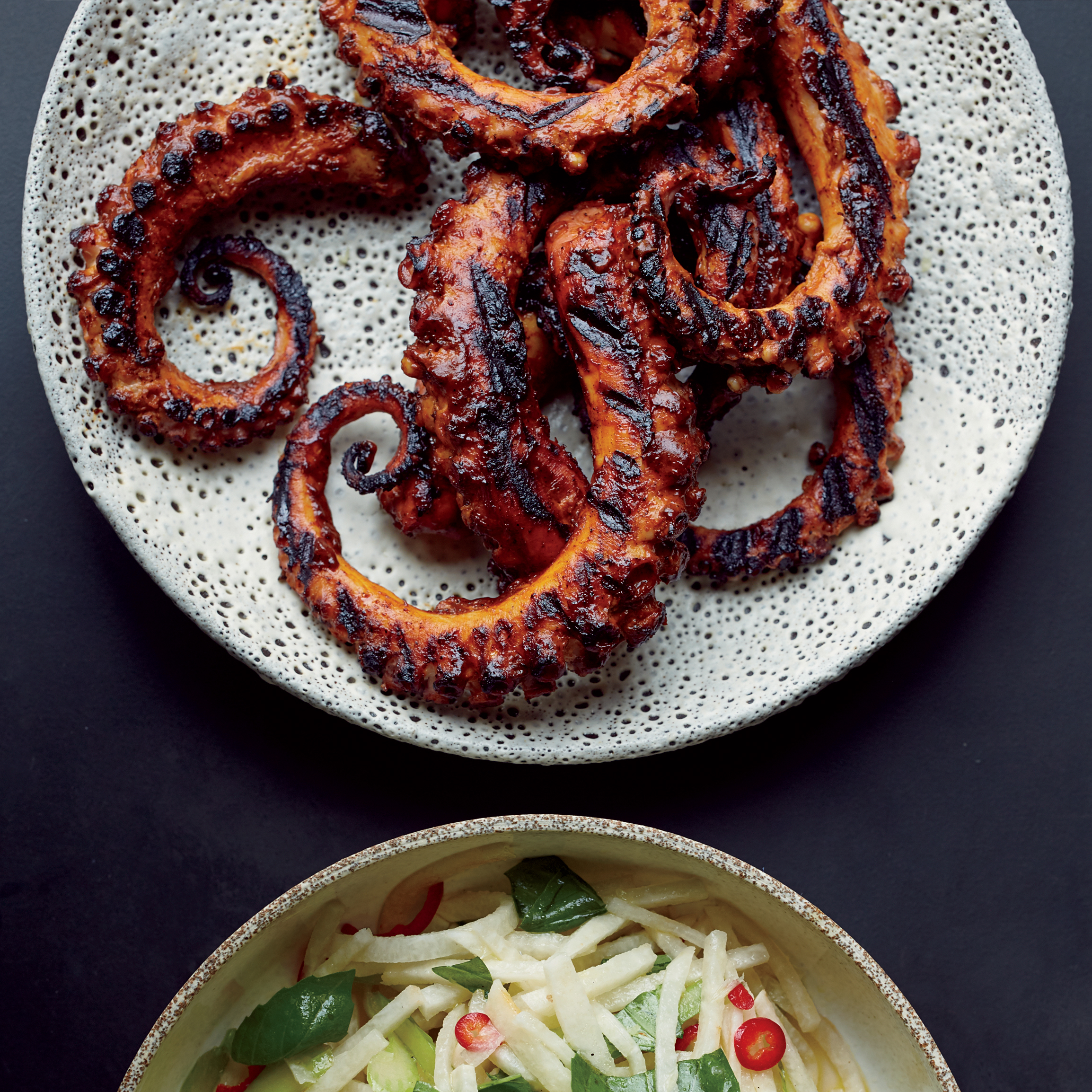 Nice wallpapers Grilled Octopus 2308x2308px