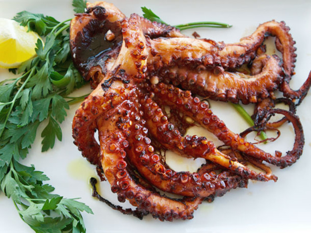 HD Quality Wallpaper | Collection: Food, 625x469 Grilled Octopus