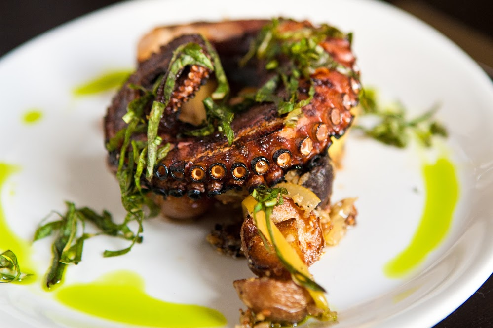 Nice wallpapers Grilled Octopus 999x666px