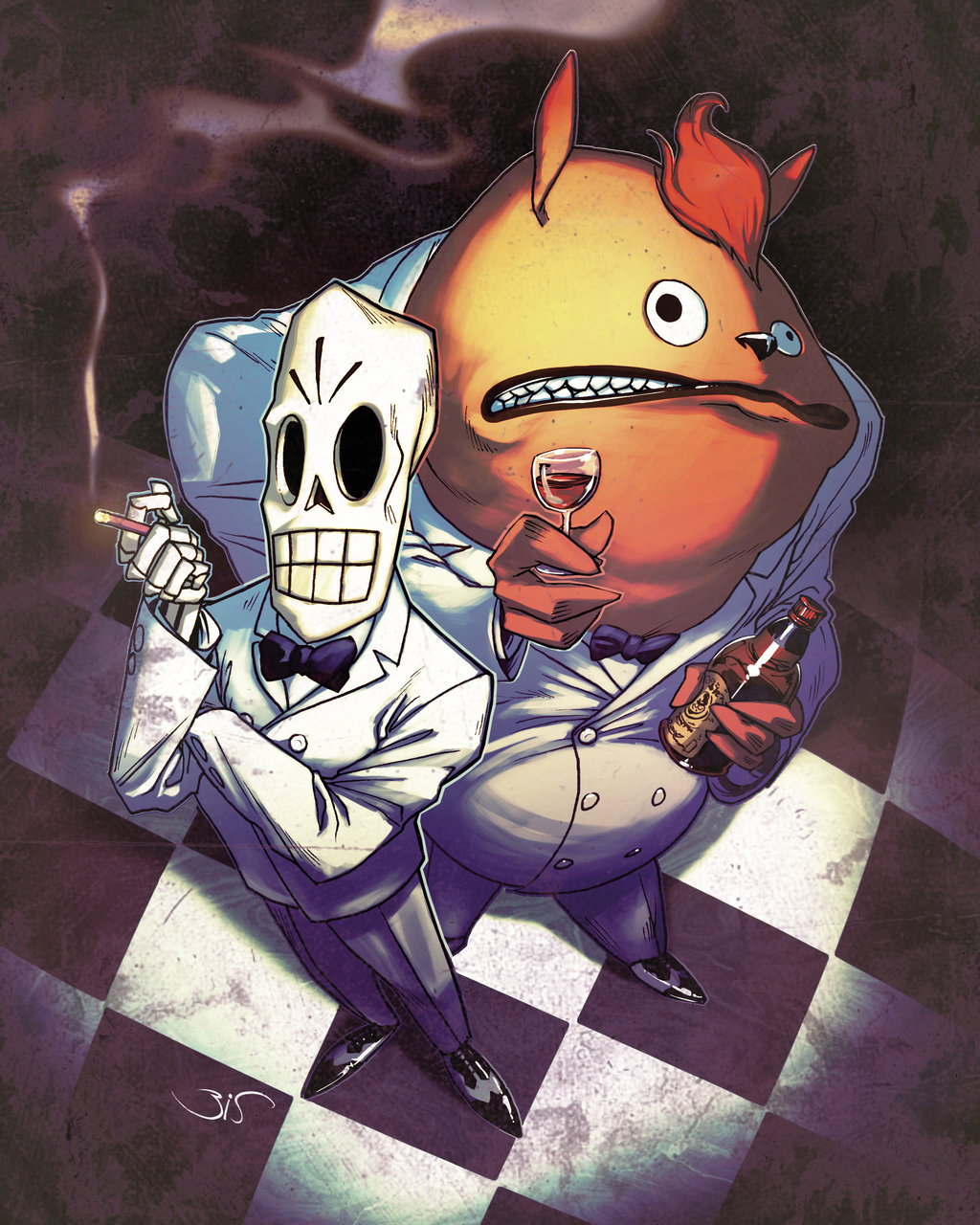 Grim Fandango Backgrounds, Compatible - PC, Mobile, Gadgets| 1024x1280 px