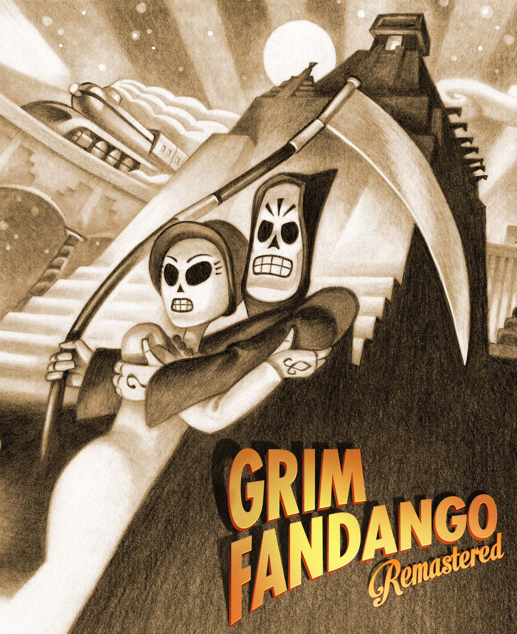 Nice wallpapers Grim Fandango Remastered 1650x2024px