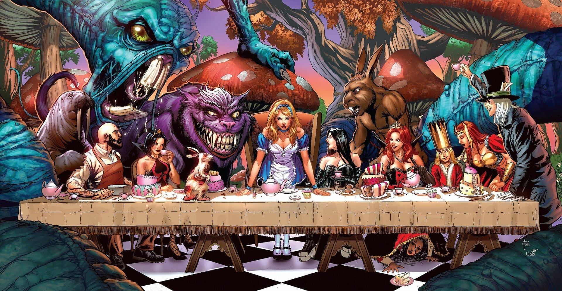 Grimm Fairy Tales Alice In Wonderland Wallpapers Comics Hq