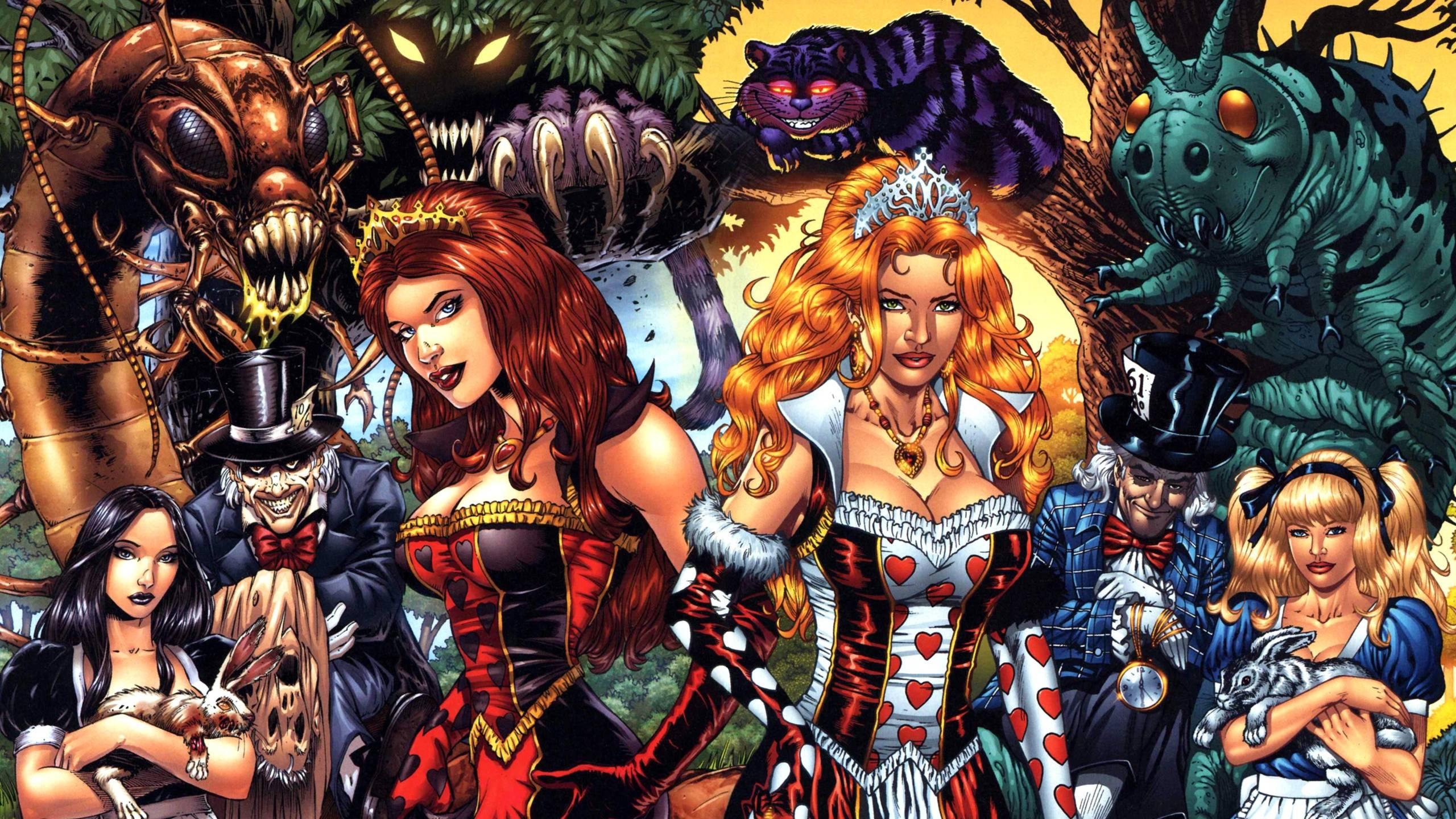 Grimm Fairy Tales: Alice In Wonderland wallpapers, Comics