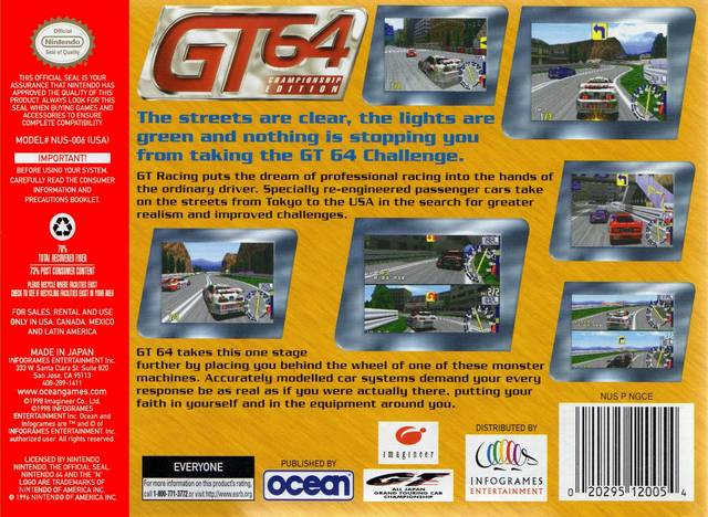 Nice wallpapers GT 64: Championship Edition 640x468px