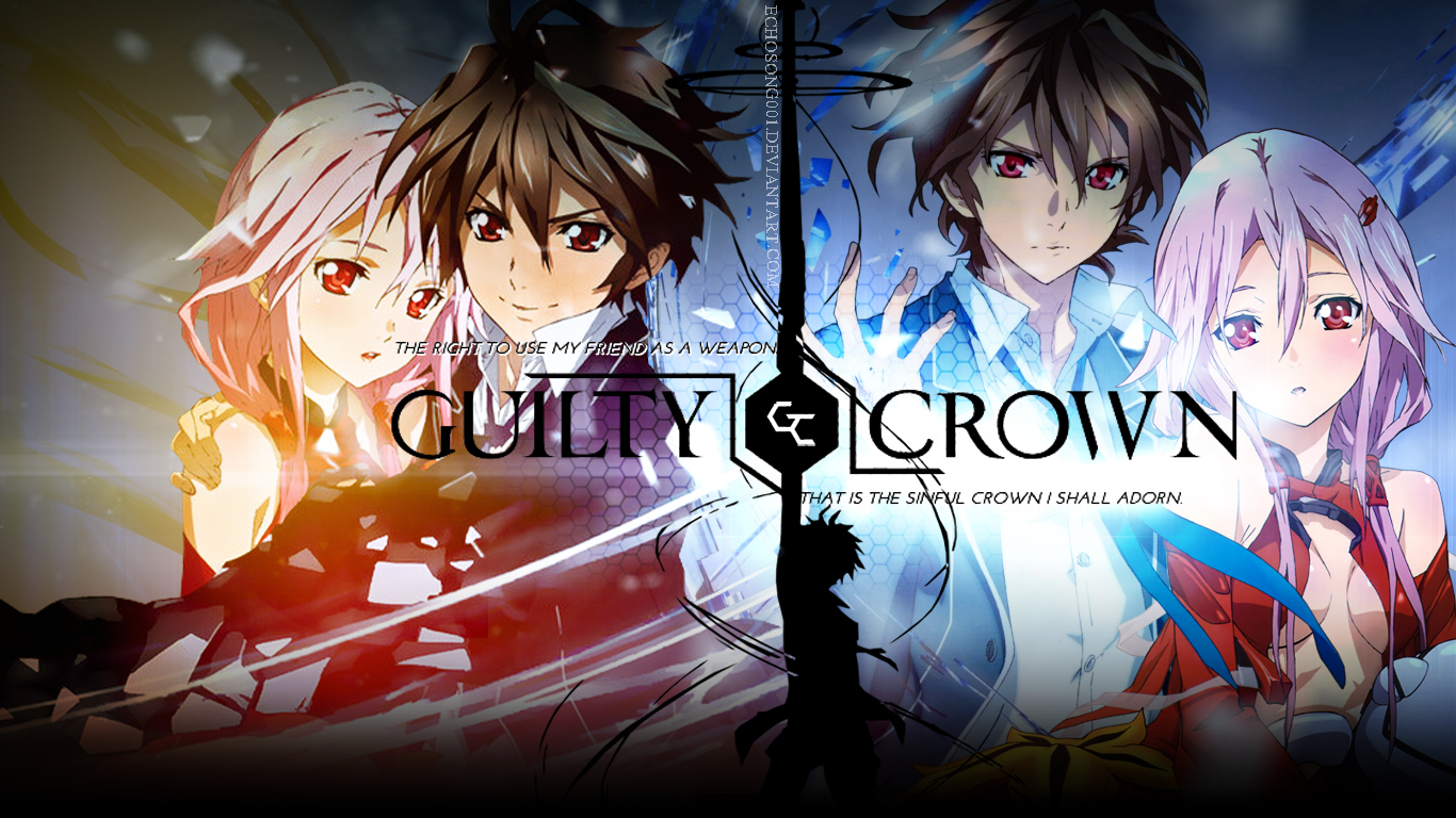 HD Quality Wallpaper | Collection: Anime, 1366x768 Guilty Crown
