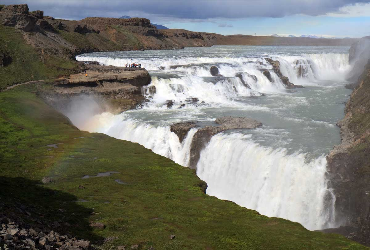 Nice Images Collection: Gullfoss Desktop Wallpapers