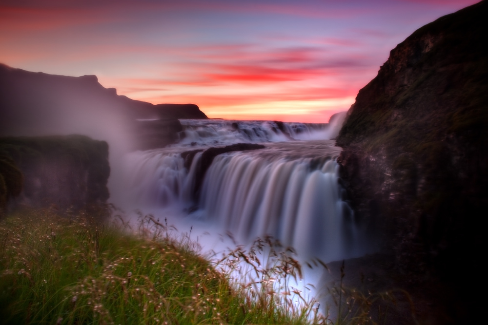 Gullfoss Backgrounds, Compatible - PC, Mobile, Gadgets| 1000x667 px