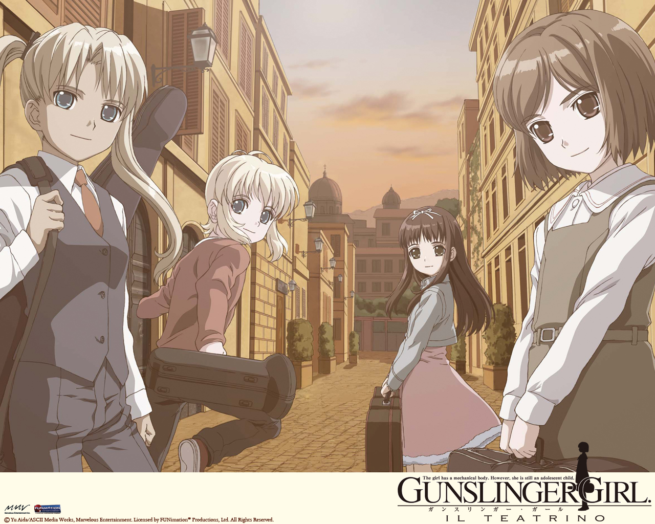 Nice Images Collection: Gunslinger Girl Il Teatrino Desktop Wallpapers