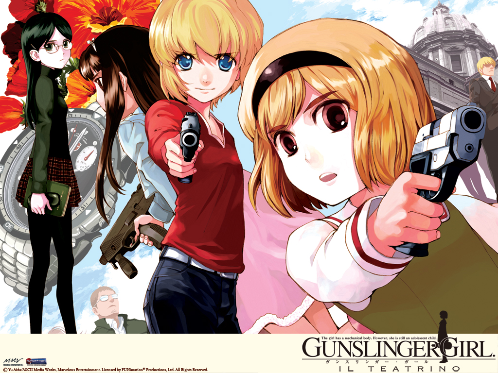 Gunslinger Girl Il Teatrino Backgrounds, Compatible - PC, Mobile, Gadgets| 1024x768 px