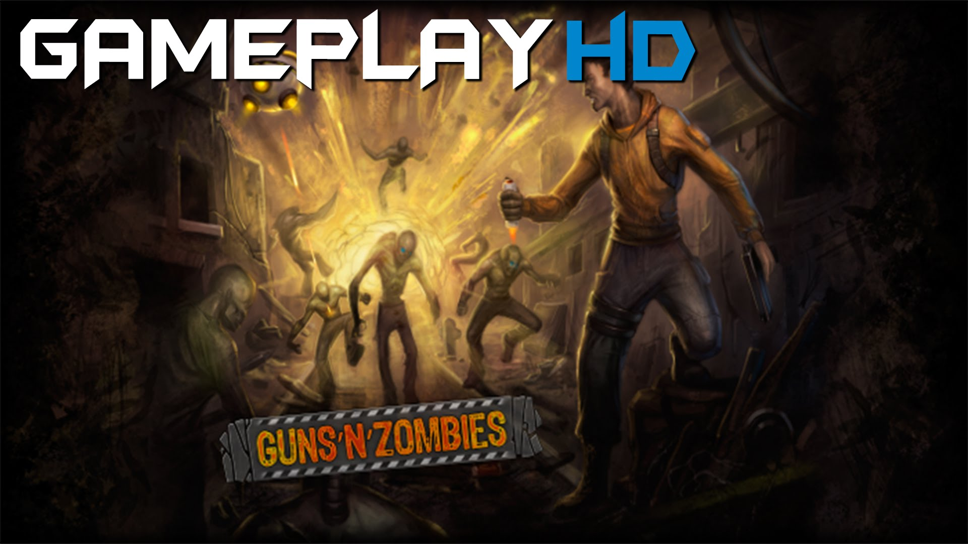 Guns'N'Zombies Backgrounds, Compatible - PC, Mobile, Gadgets  1920x1080 px