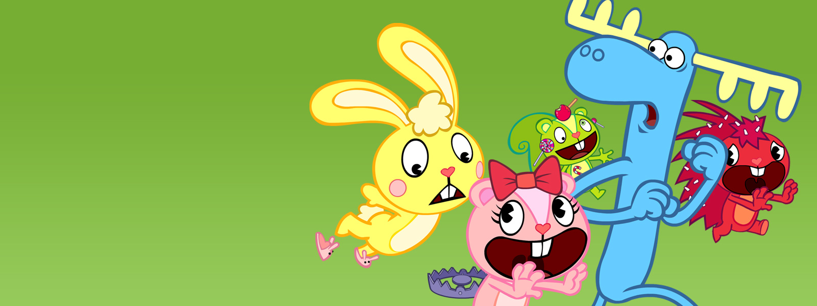 Nice wallpapers Happy Tree Friends 1600x600px
