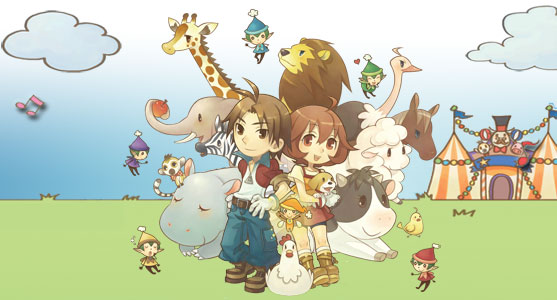 HD Quality Wallpaper | Collection: Video Game, 557x300 Harvest Moon: Animal Parade