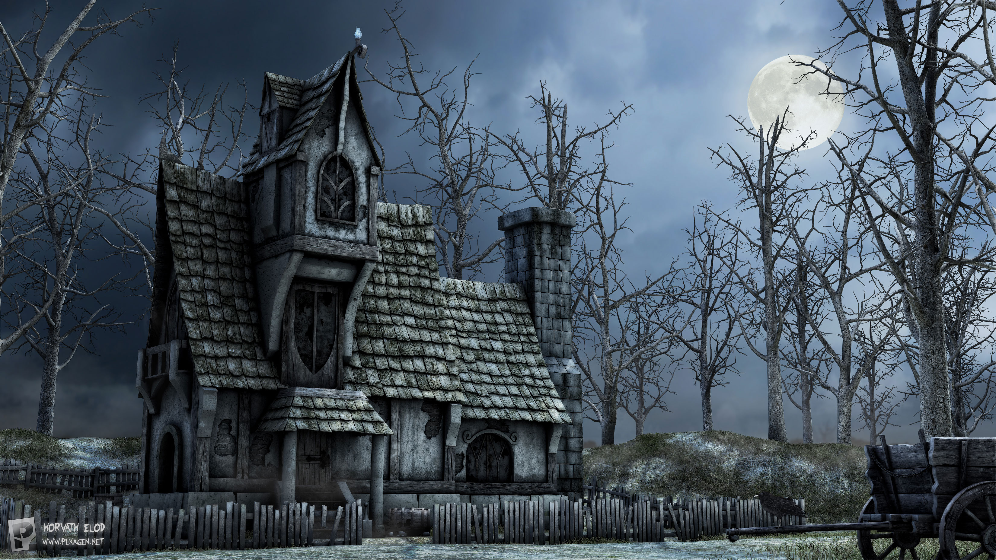 Haunted Backgrounds, Compatible - PC, Mobile, Gadgets| 3300x1856 px