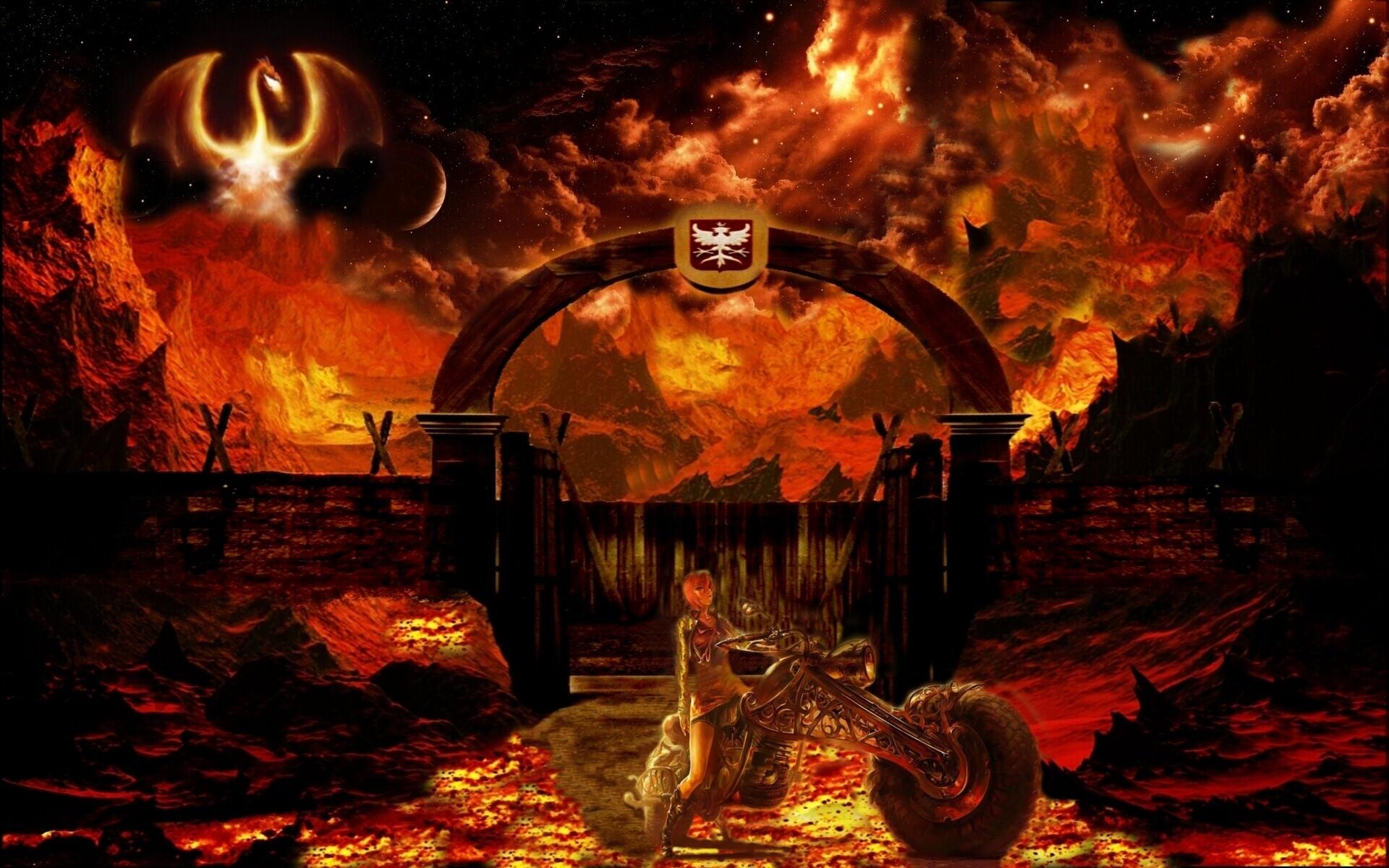 High Resolution Wallpaper | Hell Rider 1920x1200 px