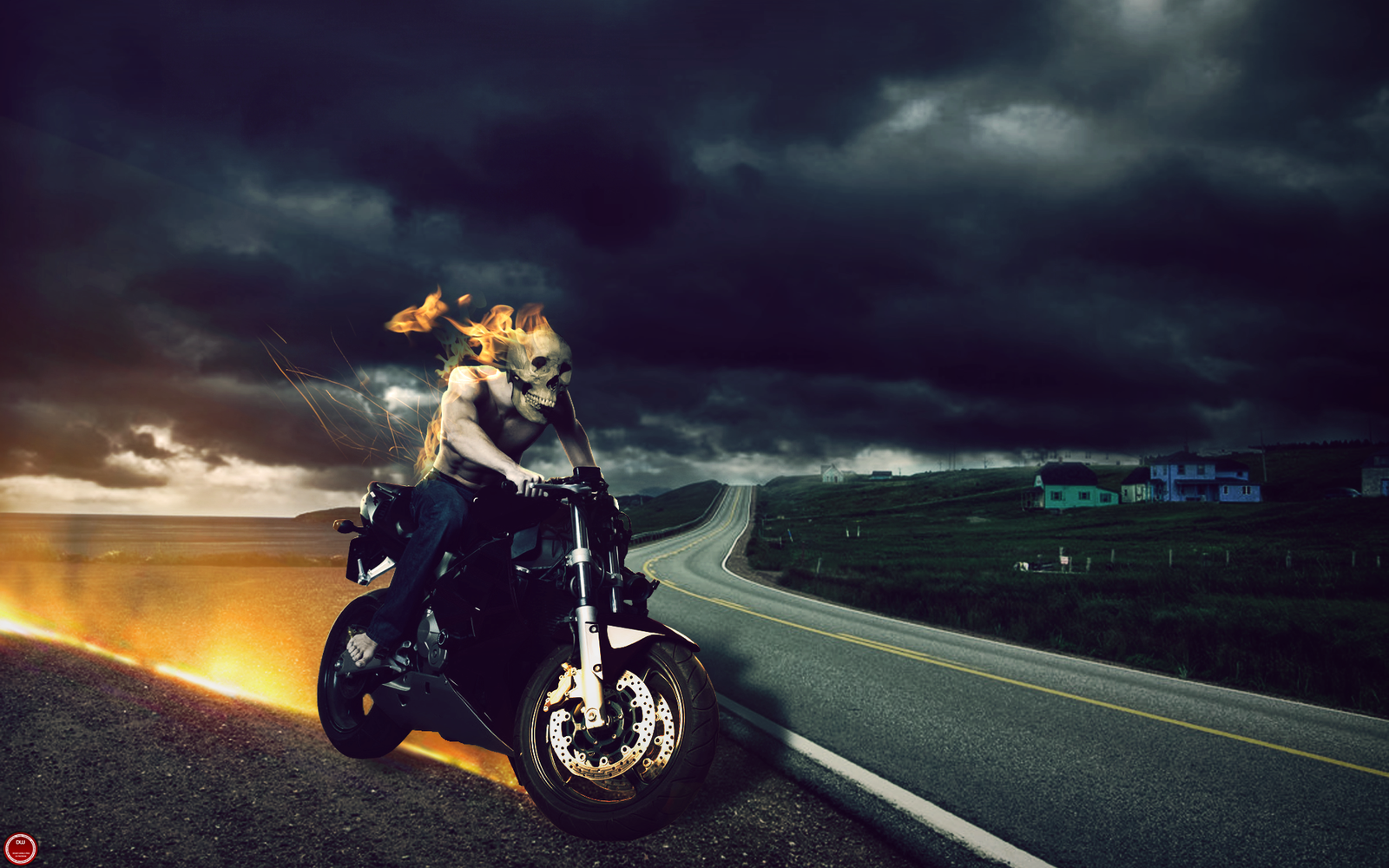 Nice wallpapers Hell Rider 1600x1000px