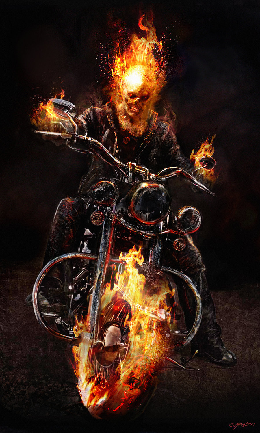 Nice Images Collection: Hell Rider Desktop Wallpapers