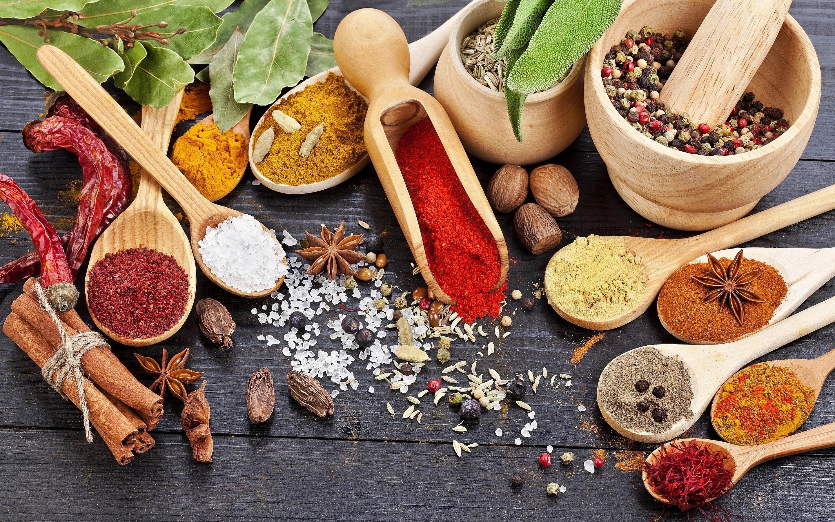 High Resolution Wallpaper | Herbs And Spices 2880x1800 px