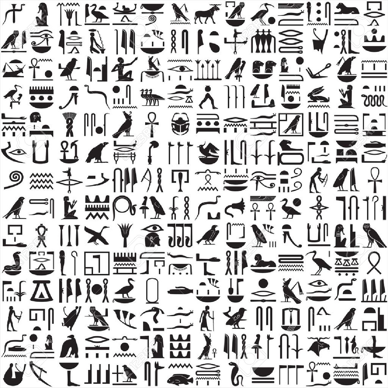 HD Quality Wallpaper | Collection: Man Made, 1300x1300 Hieroglyphs