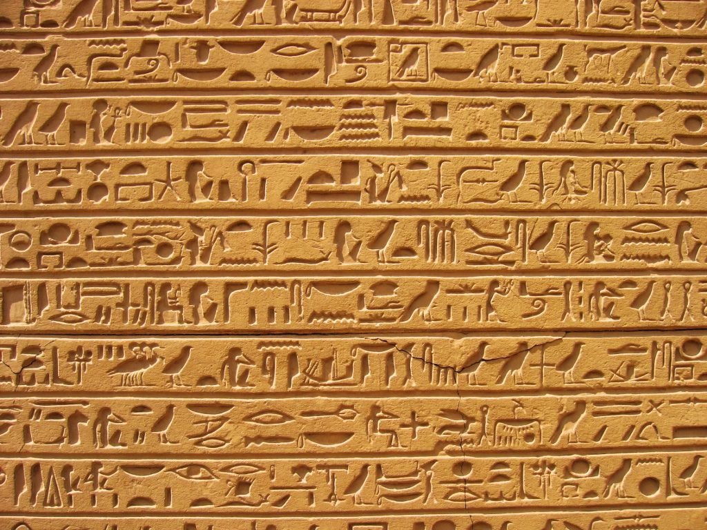 Nice Images Collection: Hieroglyphs Desktop Wallpapers