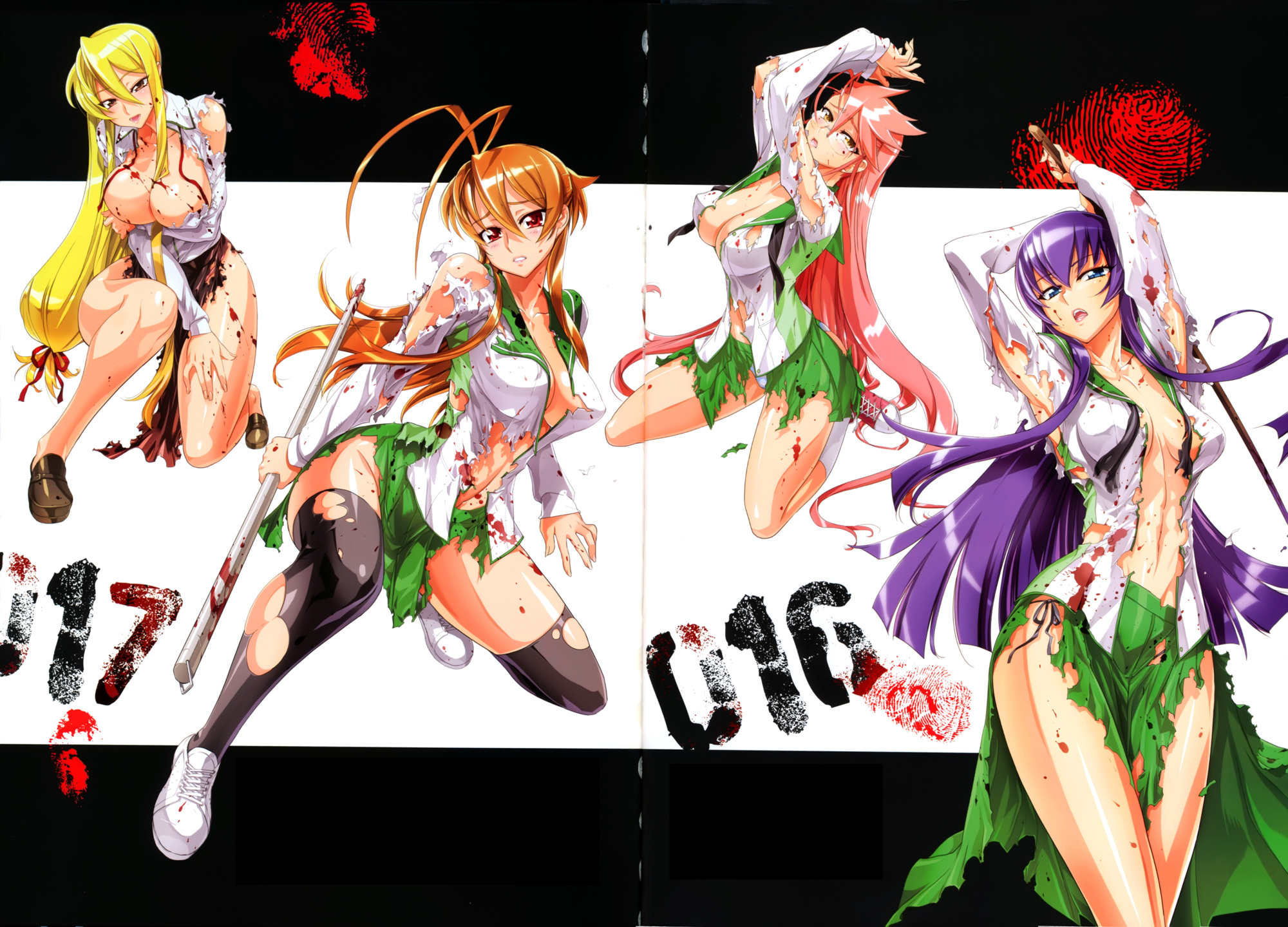 Highschool Of The Dead Wallpapers Anime Hq Highschool Of The