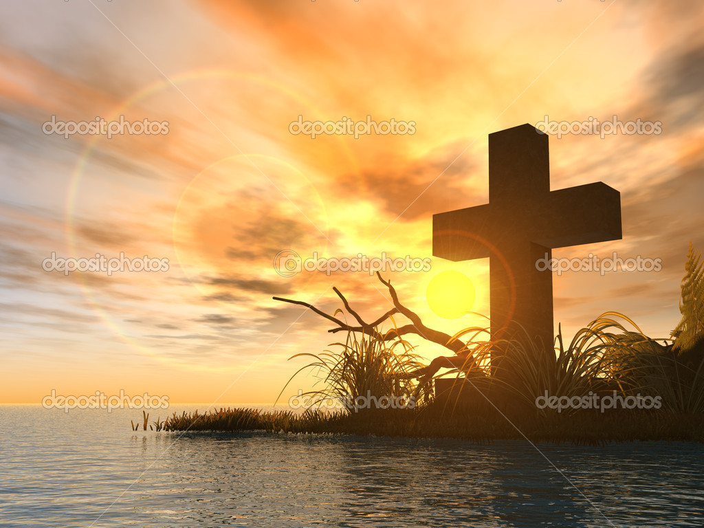 HD Quality Wallpaper | Collection: CGI, 1024x768 Holy Cross