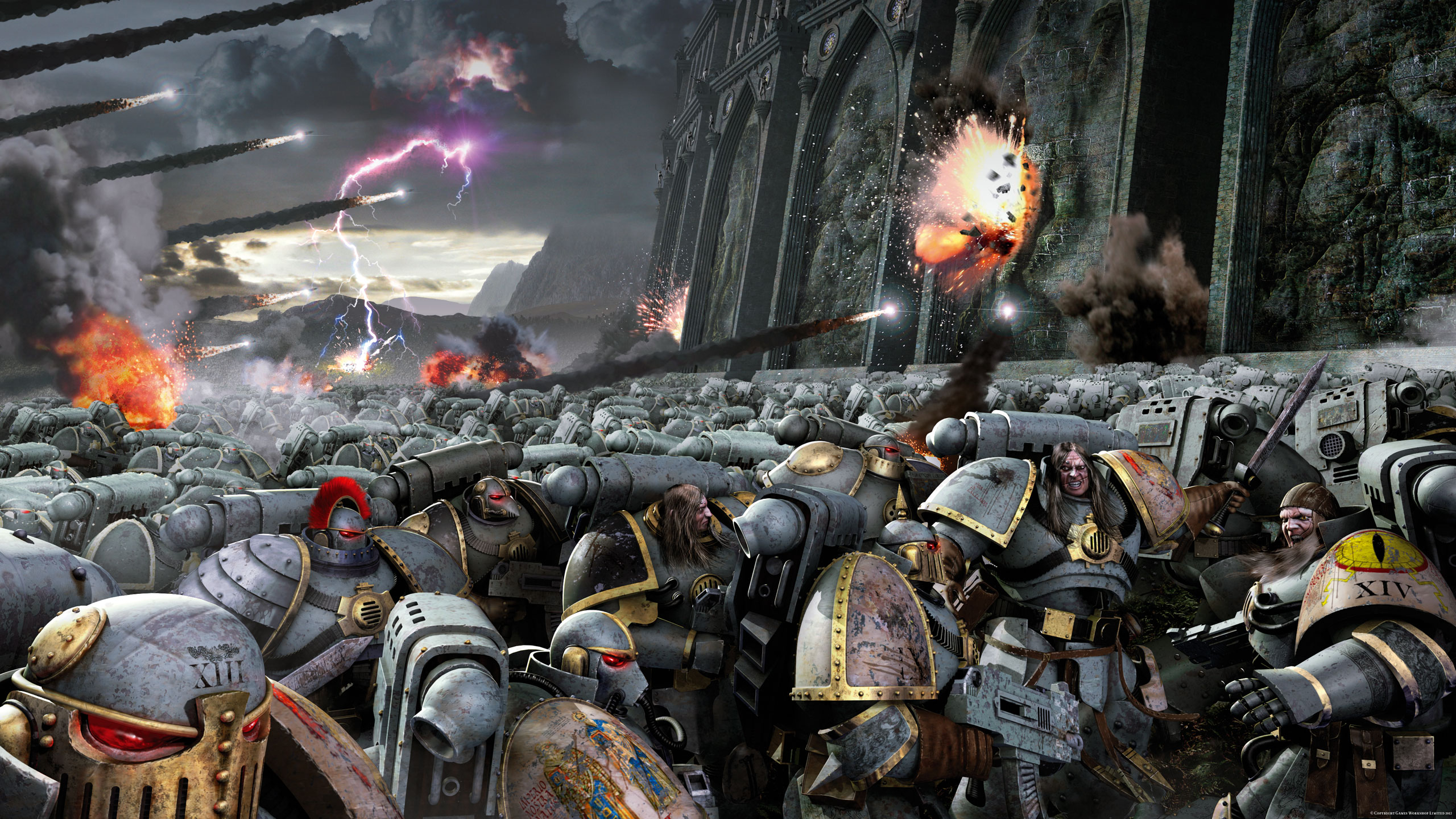 HD Quality Wallpaper | Collection: Sci Fi, 2560x1440 Horus Heresy