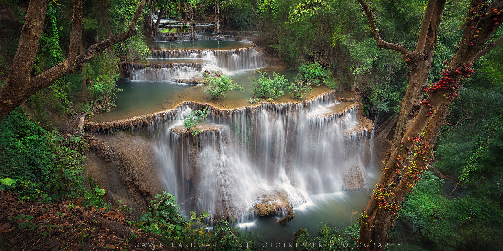 1600x800 > Huai Mae Kamin Waterfall Wallpapers