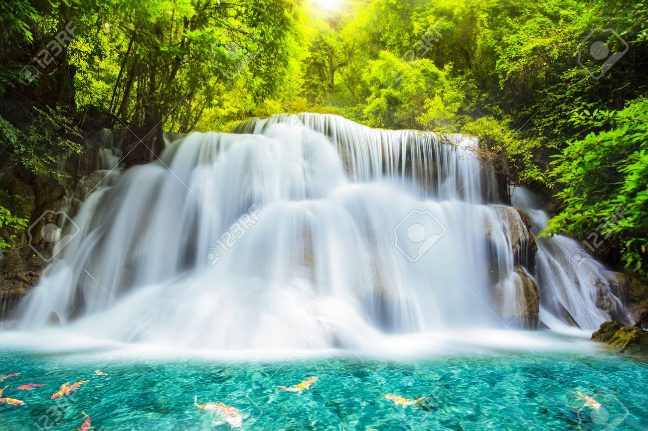 HQ Huai Mae Kamin Waterfall Wallpapers | File 244.98Kb
