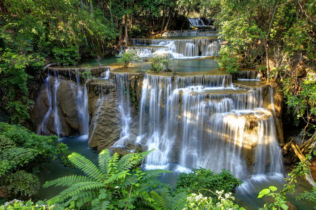 1024x683 > Huai Mae Kamin Waterfall Wallpapers
