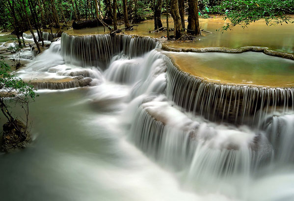Huai Mae Kamin Waterfall Backgrounds, Compatible - PC, Mobile, Gadgets| 599x409 px